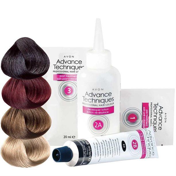 Купить Стойкая крем-краска для волос Салонный уход - Темно-русый, Avon