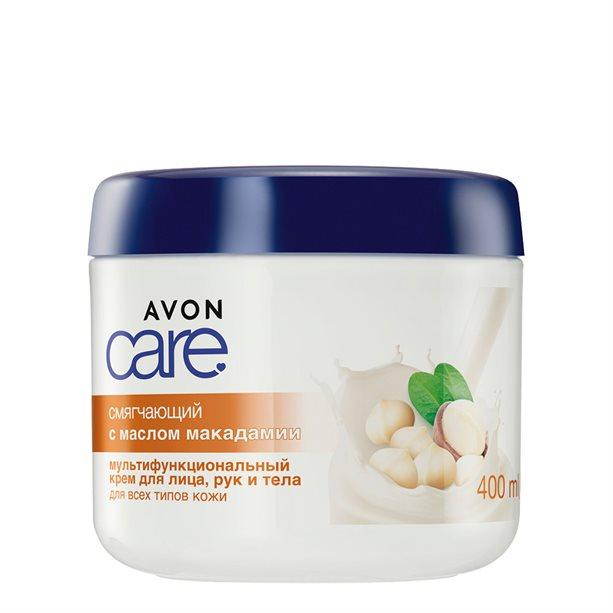 Купить Смягчающий мультифункциональный крем для лица, рук и тела с маслом макадамии, 400 мл, Avon