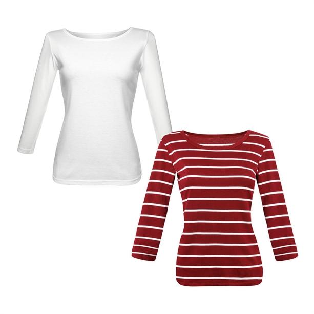 Женский джемпер (2 шт.) - Размер 40-42, красный и белый