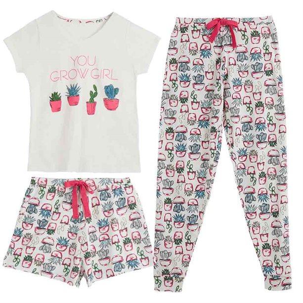 Купить Женская пижама (футболка, брюки, шорты) - Размер 54-56, Avon